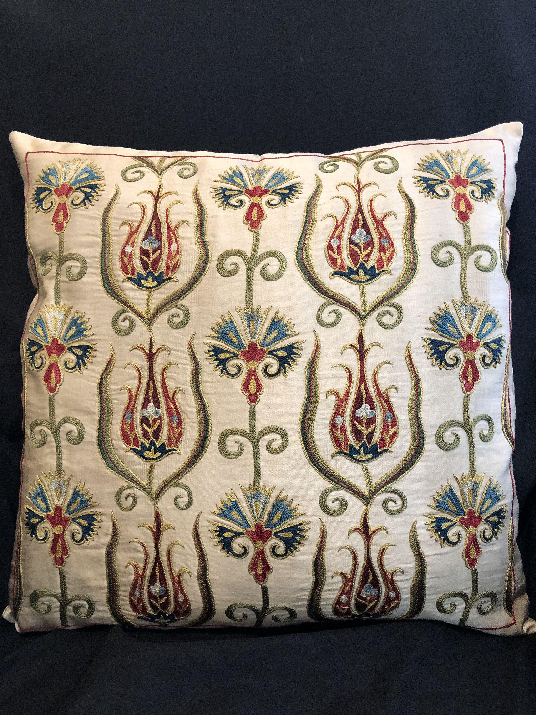 Handmade uzbek suzani pillowcase yastık modelleri pinterest