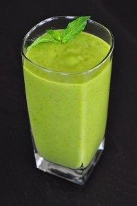 """Dr. Patel's Kiwi Mango Pineapple Super Smoothie    Ingredients  2 ounces fresh organic baby spinach  1 leaf swiss chard (optional)  2 cups fresh or frozen pineapple  1 cup fresh or frozen mango  3 kiwis, with the skin  1/2 avocado  1 tablespoon chia seed or flax seed  1 banana  1 & 1/2  cups water    Directions  Blend all ingredients in Blendtec blender on """"smoothie"""" setting.    Prep time: 5 min    Serves: 2-4"""