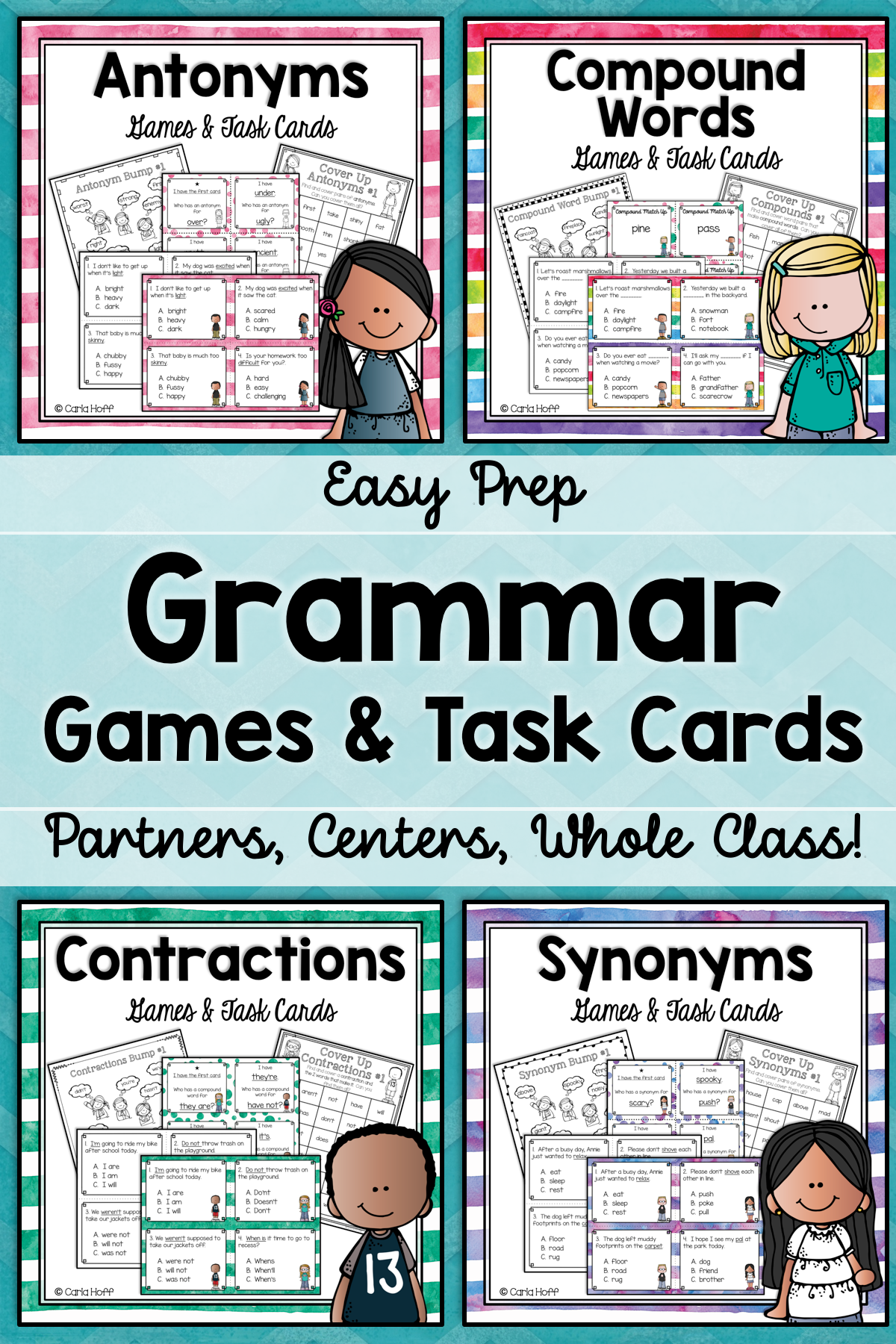 Grammar Games Bundle Synonyms Antonyms Contractions