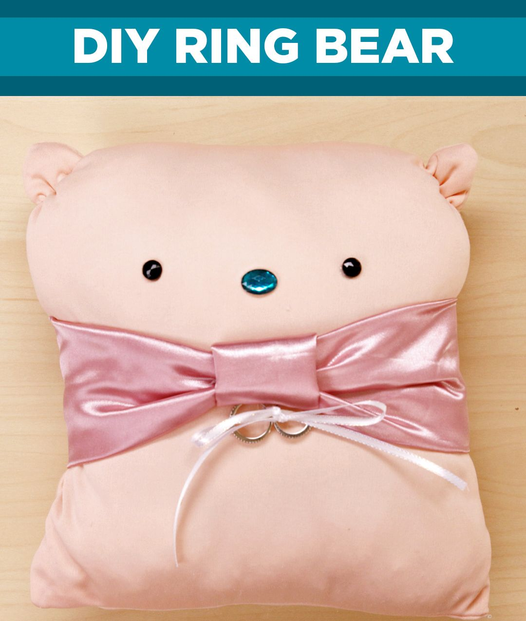 Show off your wedding rings in style with this adorable ring bearer ...