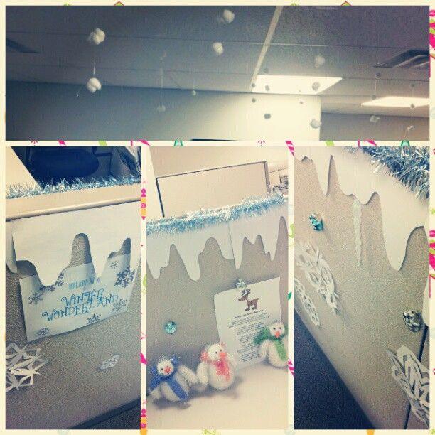Spool And Spoon Winter Wonderland Printable Christmas Cubicle Decorationslibrary