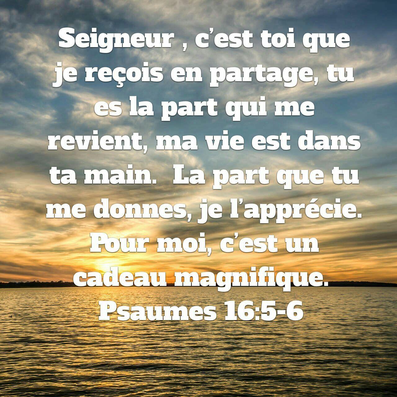 Psaumes 16v5 6 parole sainte quotes about god bible et god - Verset biblique consolation ...