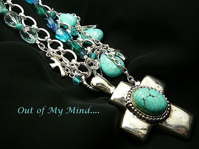 Turquoise Devotion ~ Out of My Mind Necklace - handcrafted artisan jewelry Ruby Lane