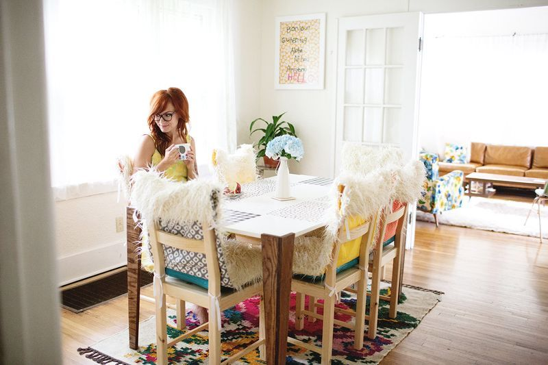 Faux Fur Chair Covers Click Through For Tutorial  Craft Ideas Amusing Dining Room Covers Review