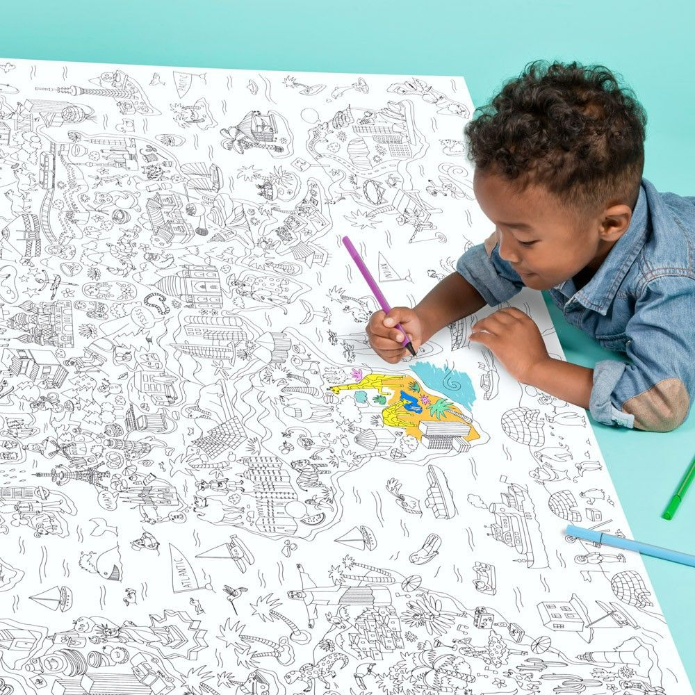 Omy Coloriage Geant Atlas Product Coloring Pages Business For Kids Coloring Books