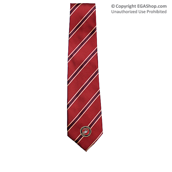 Silk style tie stripe on red w marine corps emblem marine silk style tie stripe on red w marine corps emblem ccuart Images