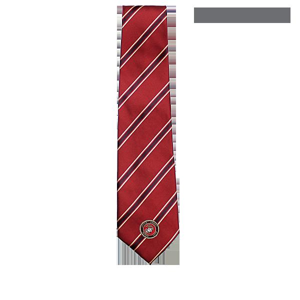 Silk style tie stripe on red w marine corps emblem marine corps silk style tie stripe on red w marine corps emblem ccuart Image collections