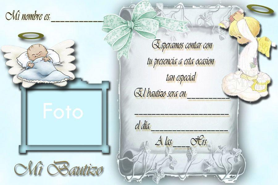 invitaciones de bautizo para imprimir gratis - Juvecenitdelacabrera