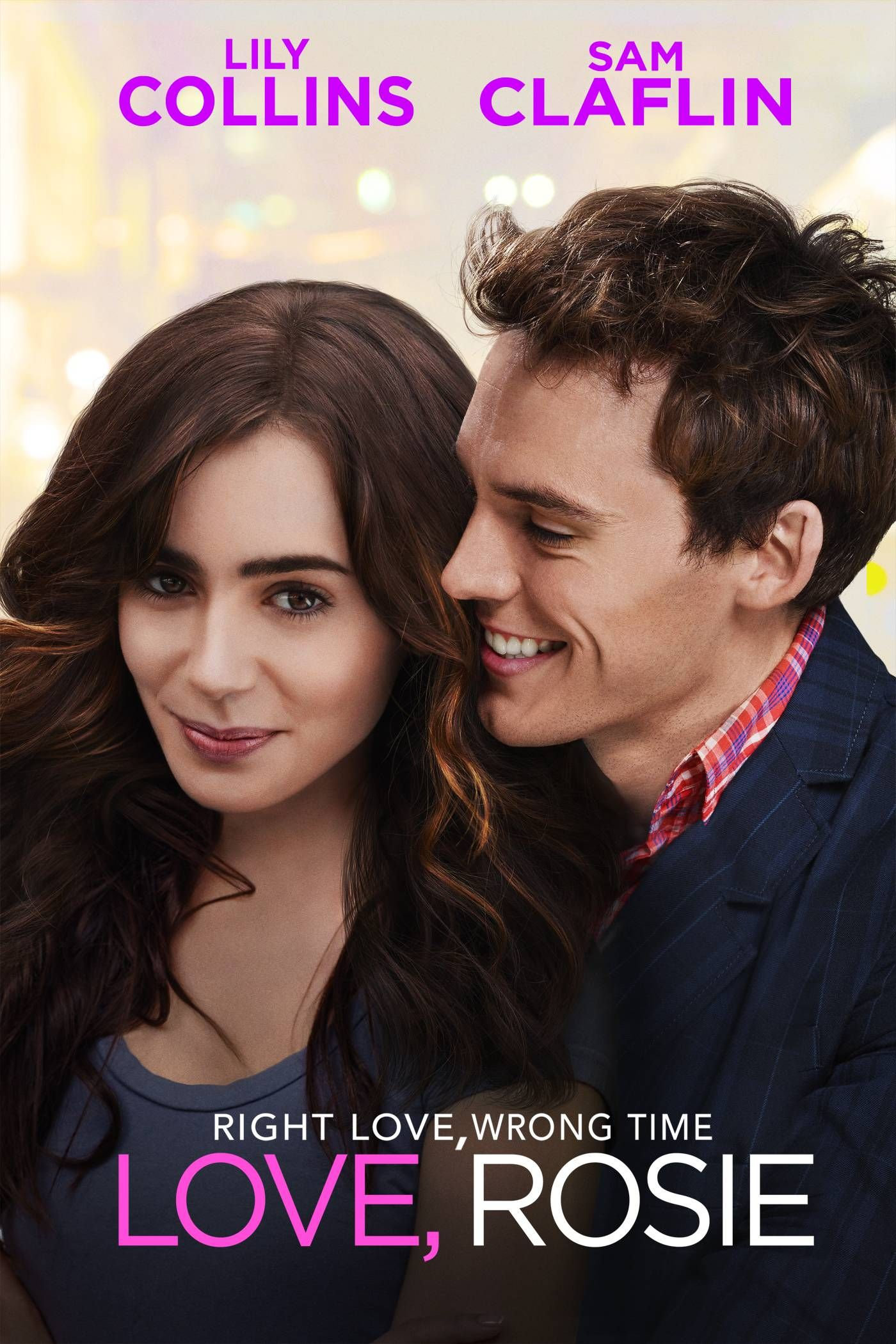 """""""Love, Rosie"""" (2014) movie poster. Lily Collins rom-com."""