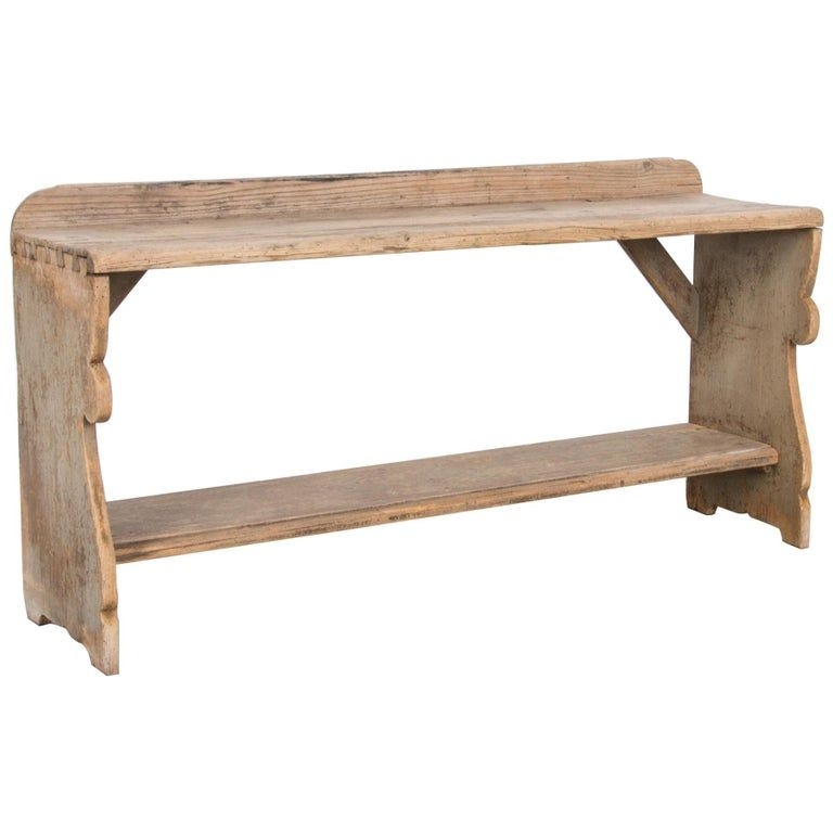 Vintage Scandinavian Pine Bench In 2020 Benches For Sale Rustic Wooden Bench Bench With Storage