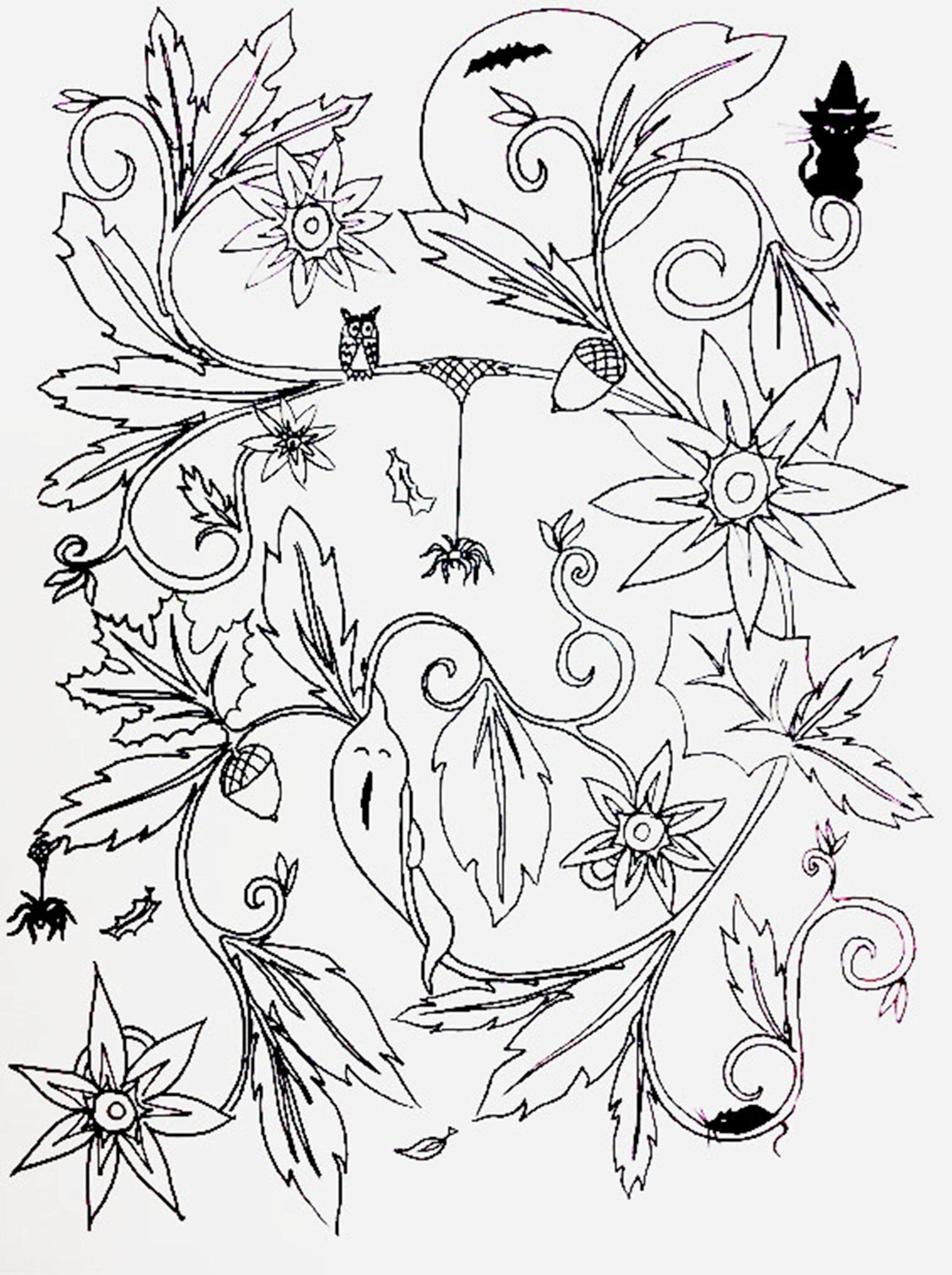 Halloween Fall coloring sheet | Fall coloring sheets ...