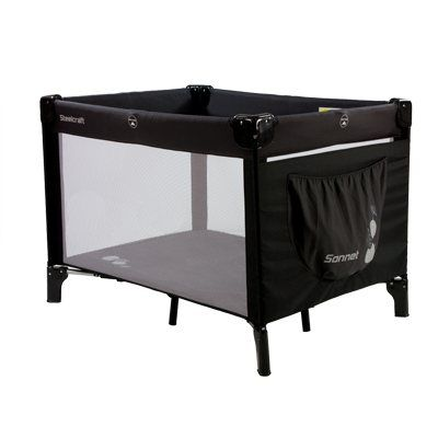 Steelcraft Sonnet Portable Cot Childproof side rail locking ...