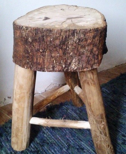 taburete de tronco de madera de encina oak stump stool santiago baos