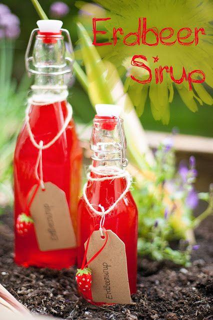 selbstgemacht ist selbstgemacht rezept erdbeersirup rezepte pinterest sirup erdbeeren. Black Bedroom Furniture Sets. Home Design Ideas
