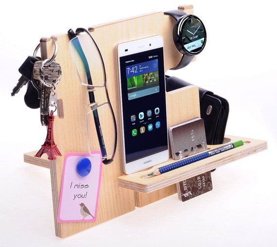 Phone Holder, key chains, holder, Wooden Pencil Holder, House Desk organizer, Gift for men, school desk organizer