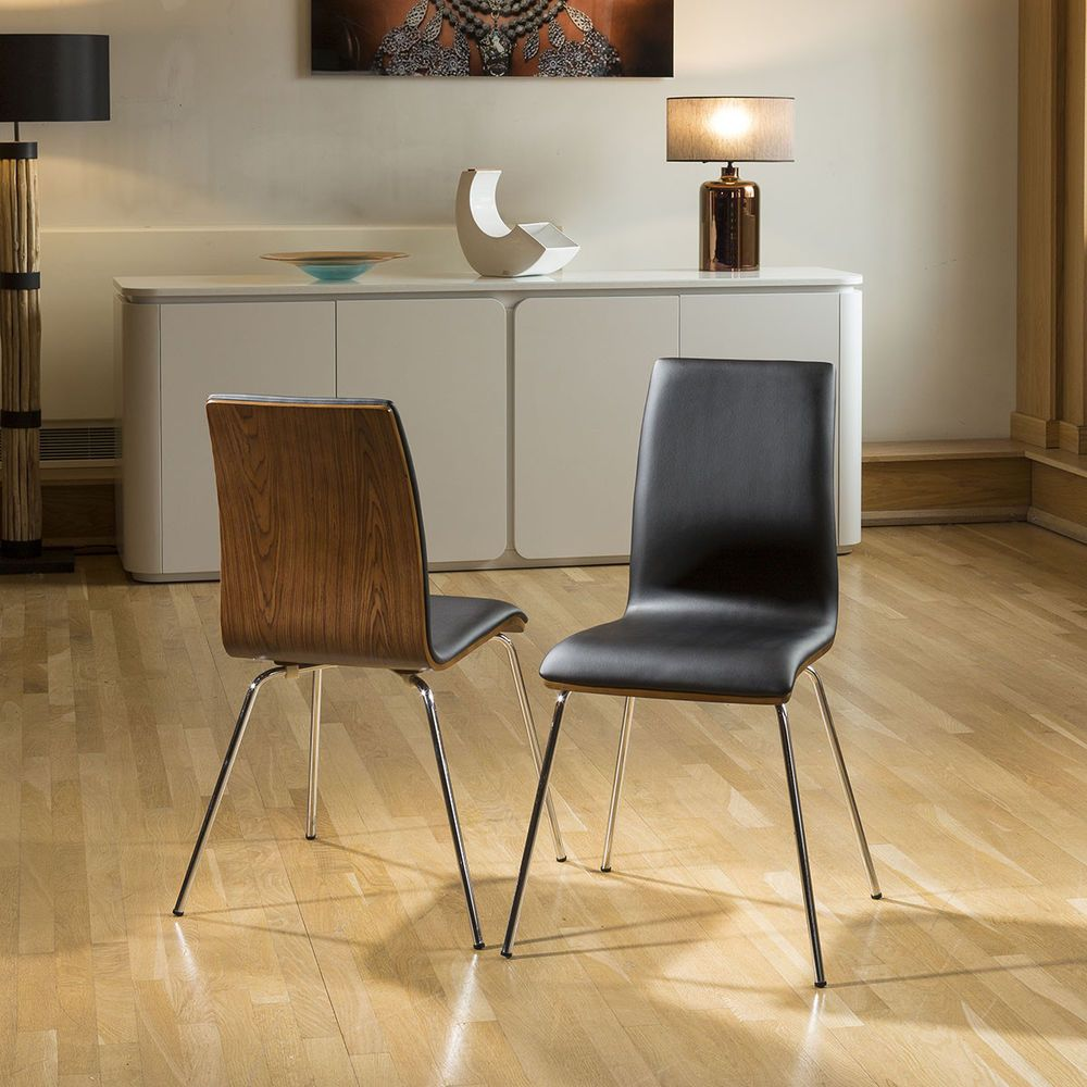 Dining Room Painted Wood Chair Chrome Legs Uk Delivery Throughout