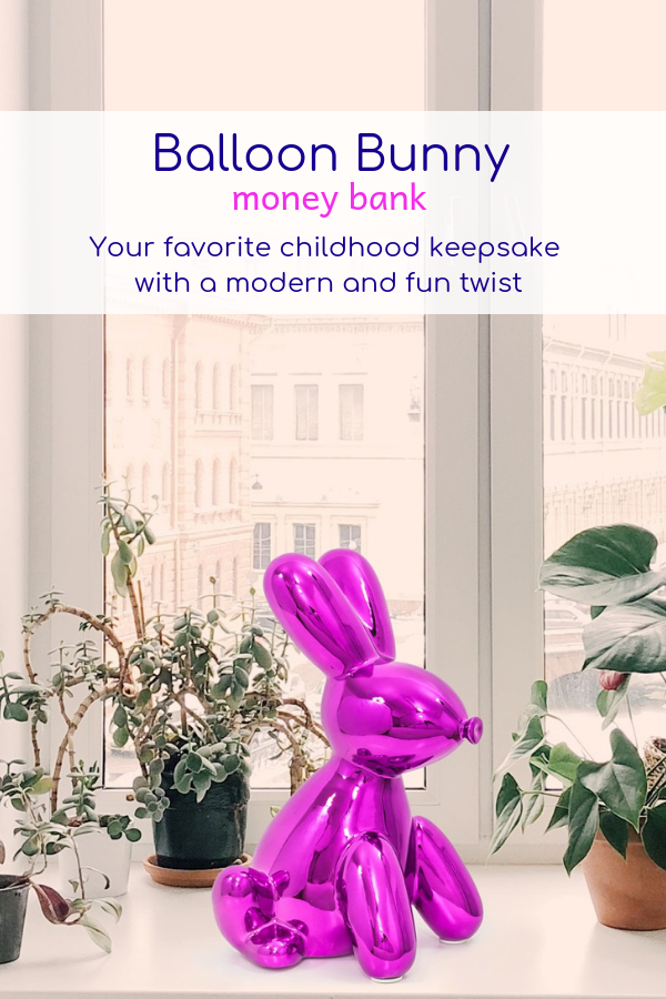 Design Bank Twist.Balloon Money Bank Big Bunny New Place Money Bank Balloons
