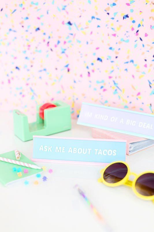 Desk Nameplates Disco Ball Vaseore Stylish Weekend Crafts