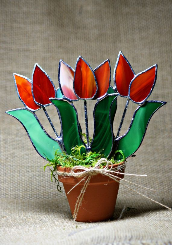 3D tulips from Gala Gardens, Etsy | H board | Pinterest | 3d, Glass ...