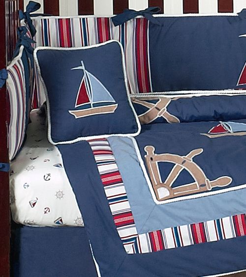 Design Close Up Baby Nursery Bedding Decor In Nautical Nights By Jojo Designs
