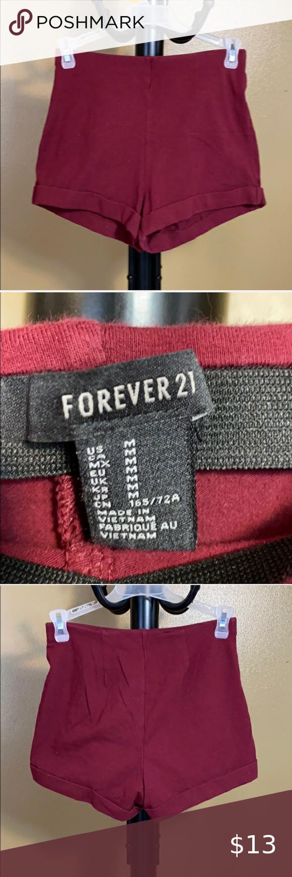 Forever 21, maroon shorts, medium