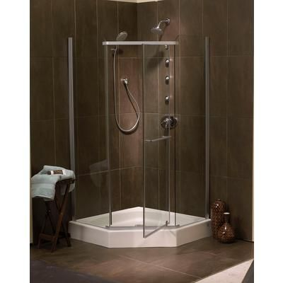Mirolin - Sorrento 42 Inch Acrylic Framless Neo-Angle Shower Door ...