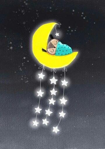 Luna _ Stelle _ Civetta _ Buonanotte