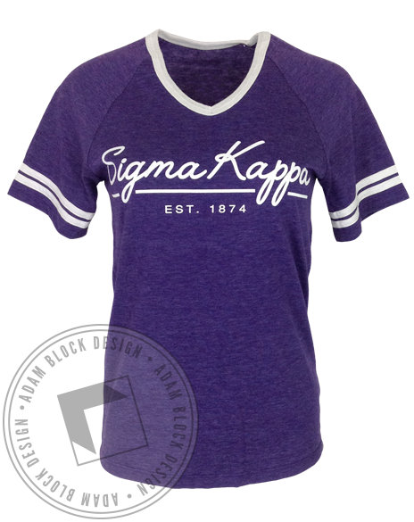 69bc1f3ef Sigma Kappa Cursive Ringer Tee | shirt ideas | Sigma kappa, Kappa ...