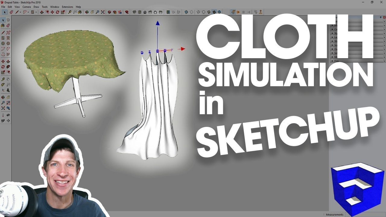 Real Cloth Simulation In Sketchup With Clothworks With Images