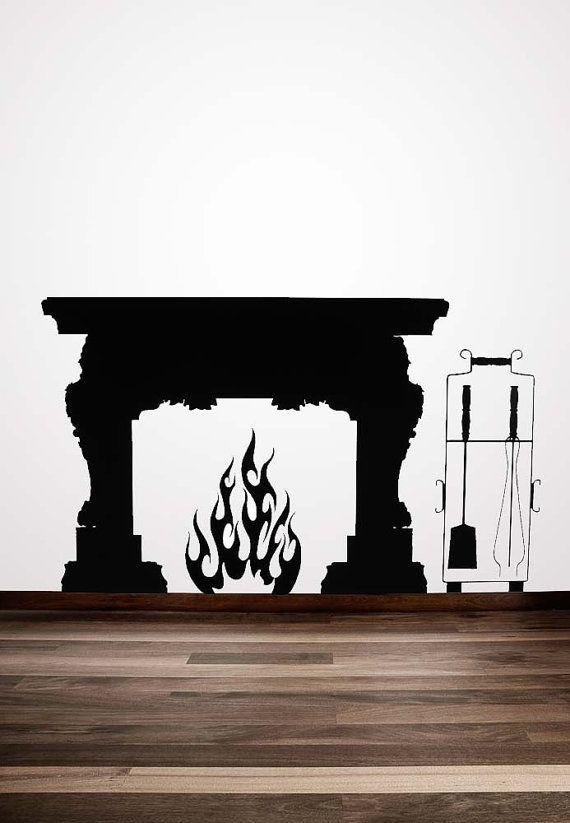 fireplace mantel, vinyl decal, fireplace mantle, fireplace mantel