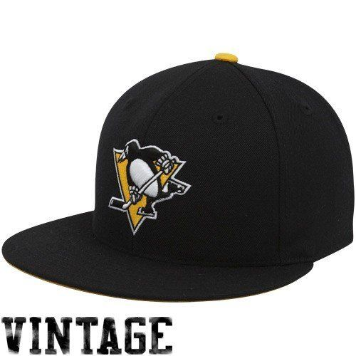 bd59b252c69 ... shop mitchell ness pittsburgh penguins vintage fitted hat 7 5 8 by  mitchell ness a5c09 c60a6