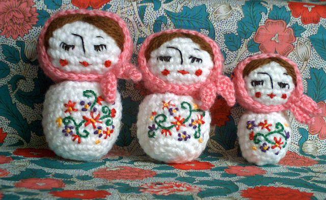 Amigurumi Russian Doll Pattern : Amigurumi russian dolls pattern by nelly pailloux amigurumi