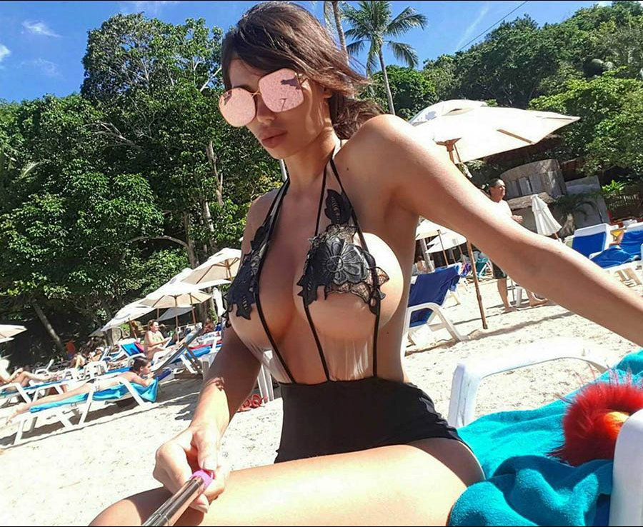 f7e03310caf Charlotte Crosby top turns 100% see-through while soaking up the sun in St  Lucia