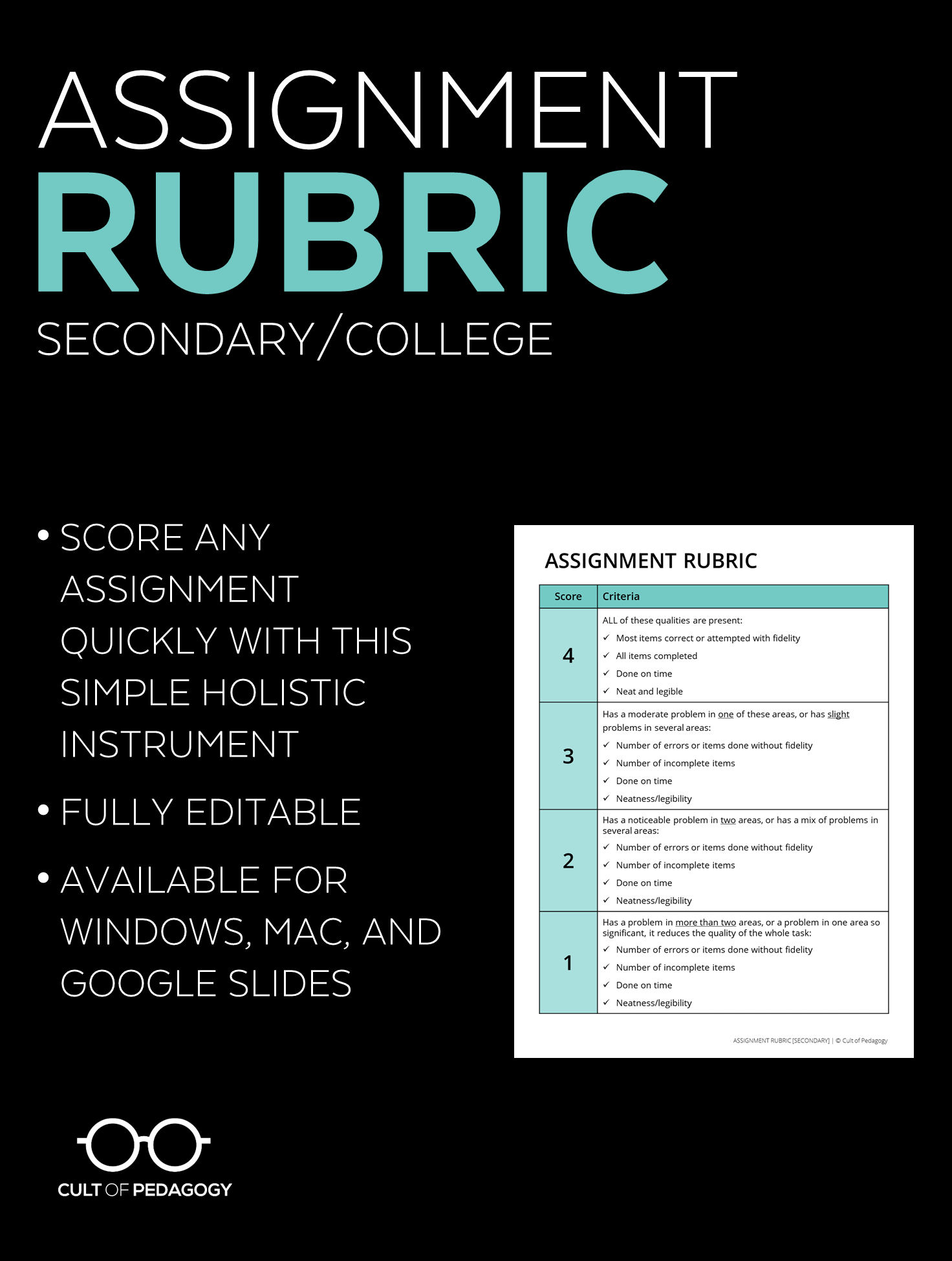 Assignment Rubric Secondarycollege Level  Classroom Materials On  Dccdebpng