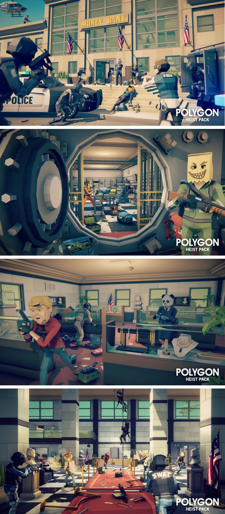 Polygon - Heist Pack #3D Models #Environments  A #low poly asset