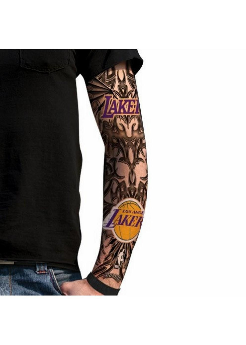 Fans ink tattoo sleeve los angeles lakers for light for La lakers tattoo