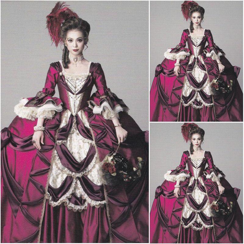 Vind meer kleding informatie over freeshipping klant gemaakt luxs victoriaanse jurken 1860 s - Stijl van marie antoinette ...