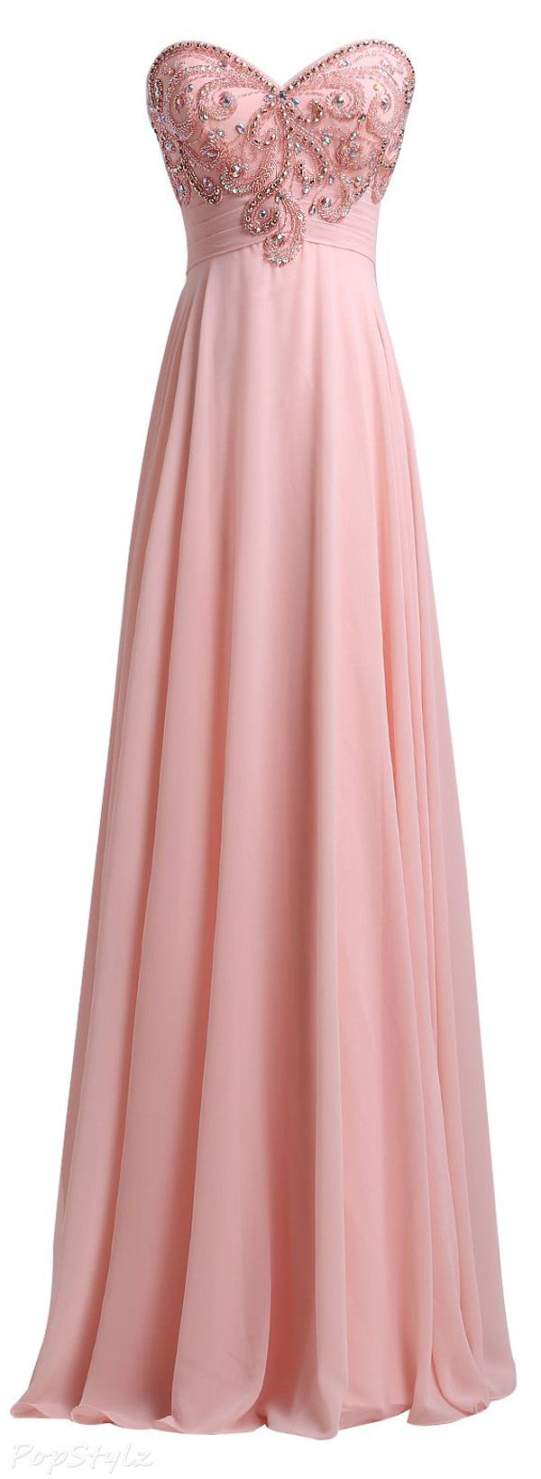 SeasonMall Chiffon A Line Sweetheart Evening Dress   Outfits ...