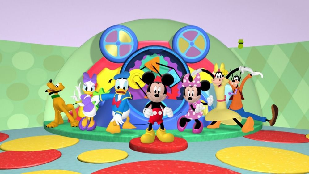 Etonnant Find More Wall Stickers Information About A5 OEM Mickey Mouse Clubhouse  Together Minnie Daffy Art Cartoon Wall Wallpaper Stickers Mural Customized  Cute ...