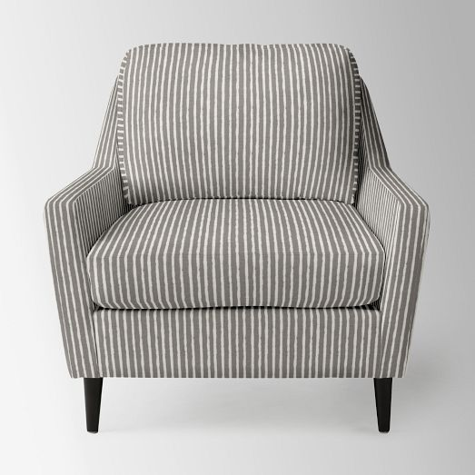 West Elm Everett Chair Steel Hd Image Chevron Slate Chocolate Legs Home Love