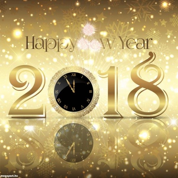 decorative happy new year background free vector
