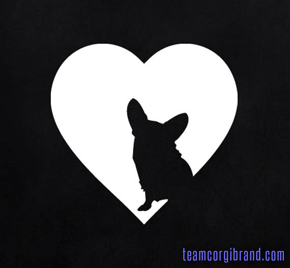 Download Corgi Love | Etsy | Corgi, Corgi art, Retro art