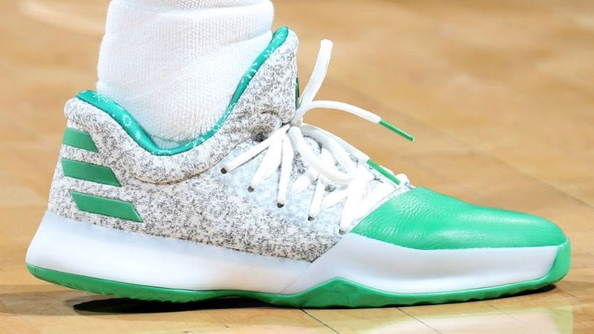 the adidas harden vol. 1 in the christmas colorway