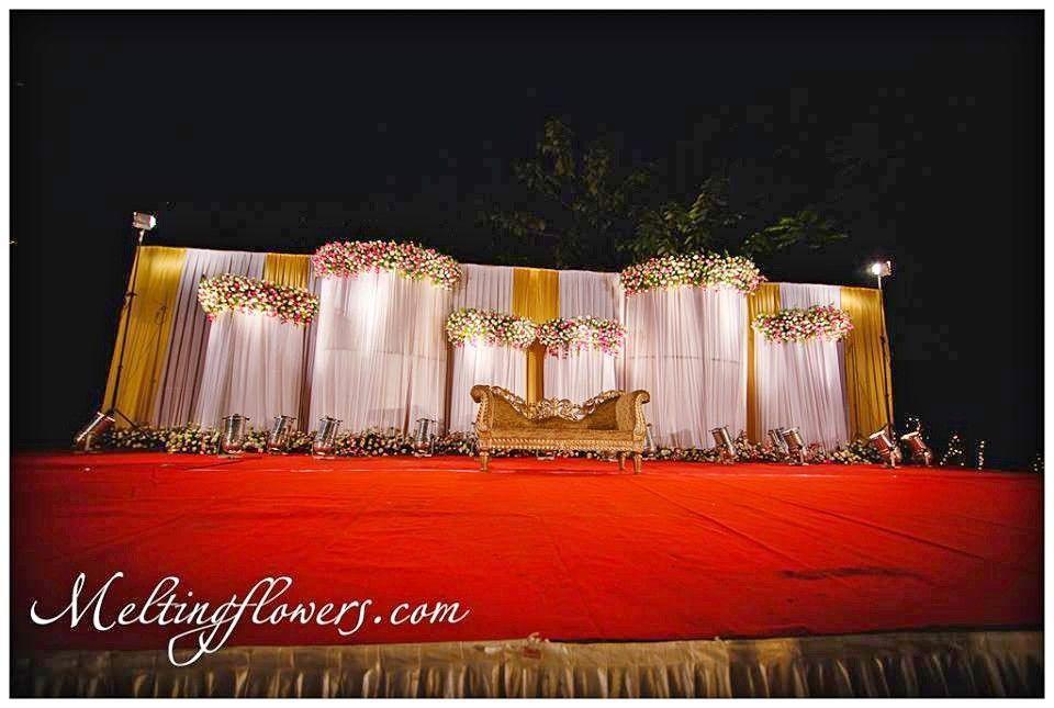 Wedding Flamboyant Backdrop Decoration