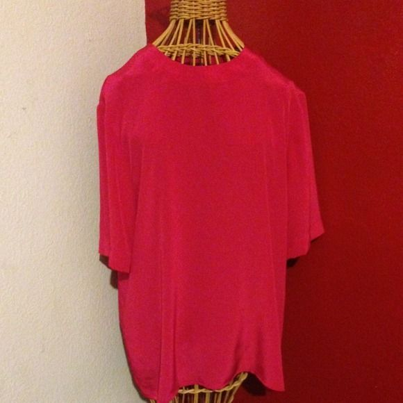 Vintage Evan Picone Hot Pink Top Vintage Evan Picone Hot Pink Top, cute button detail on back, size 12, GUC Evan Picone Tops