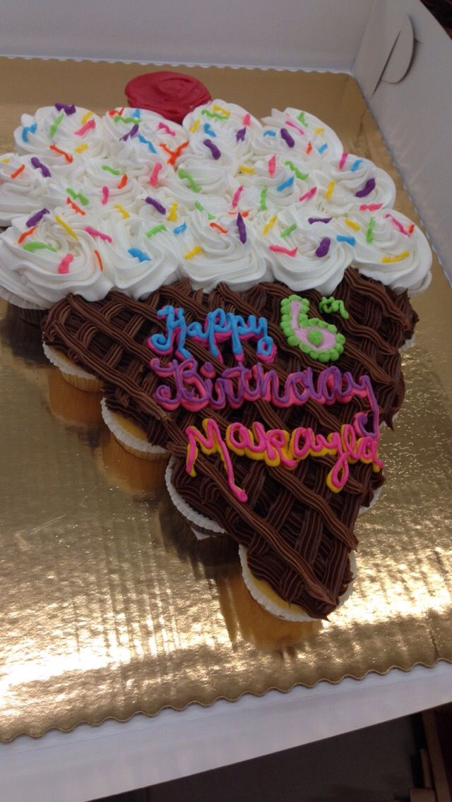 Ice cream cone shaped cupcake cake Cupcake Cakes ...