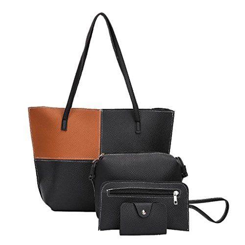 4e94f62edf VESNIBA Women Girl Four Sets Backpack Handbag Shoulder Bag.  purse  handbag   womens