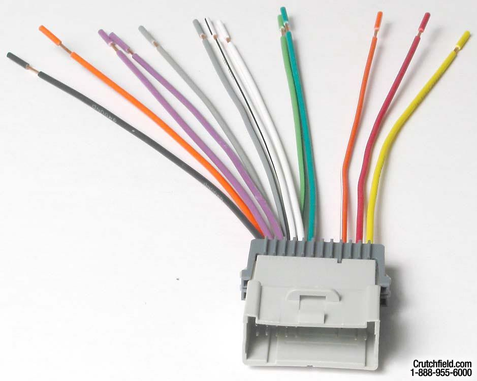 Metra 70 2003 Receiver Wiring Harness Connect A New Car Stereo In Select 2000 08 Vehicles At Crutchfield Car Stereo Metra Pontiac Aztek