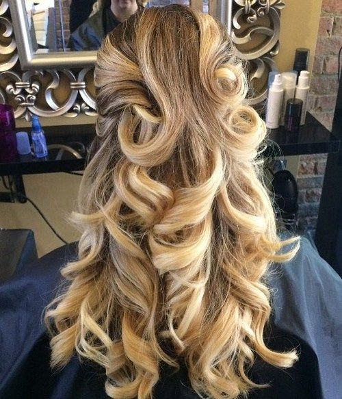 50 Half Updos For Your Perfect Everyday And Party Looks Thick Hair Styles Half Updo Hairstyles Prom Hairstyles For Long Hair