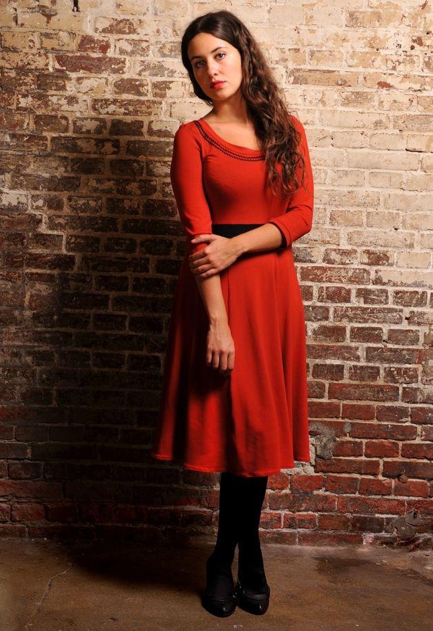 Rotes kleid dawanda